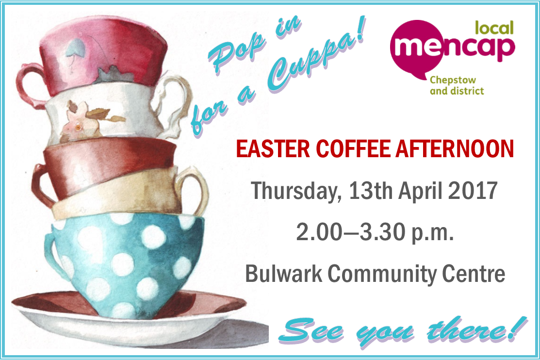 Coffee Morning Poster 2017 Chepstow District Mencap